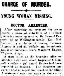 Article from The Argus, 31st of August 1911.